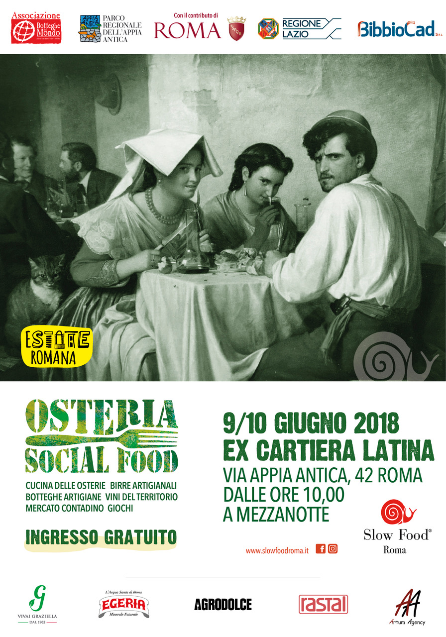 Osterie Social Slow food Roma