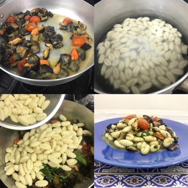Pastificio Golino - Gnocchi di patate, cozze, melanzane e pomodorini del piennolo
