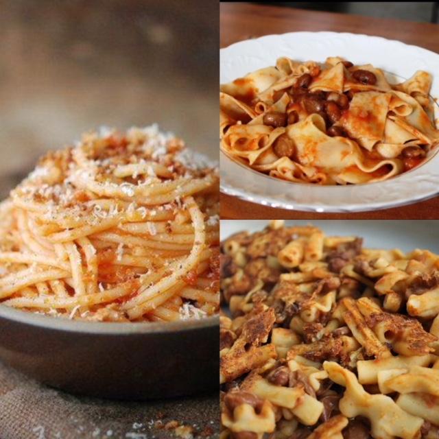 Pastificio Golino - primi piatti come la pasta e fagioli arruscata a bocca di forno