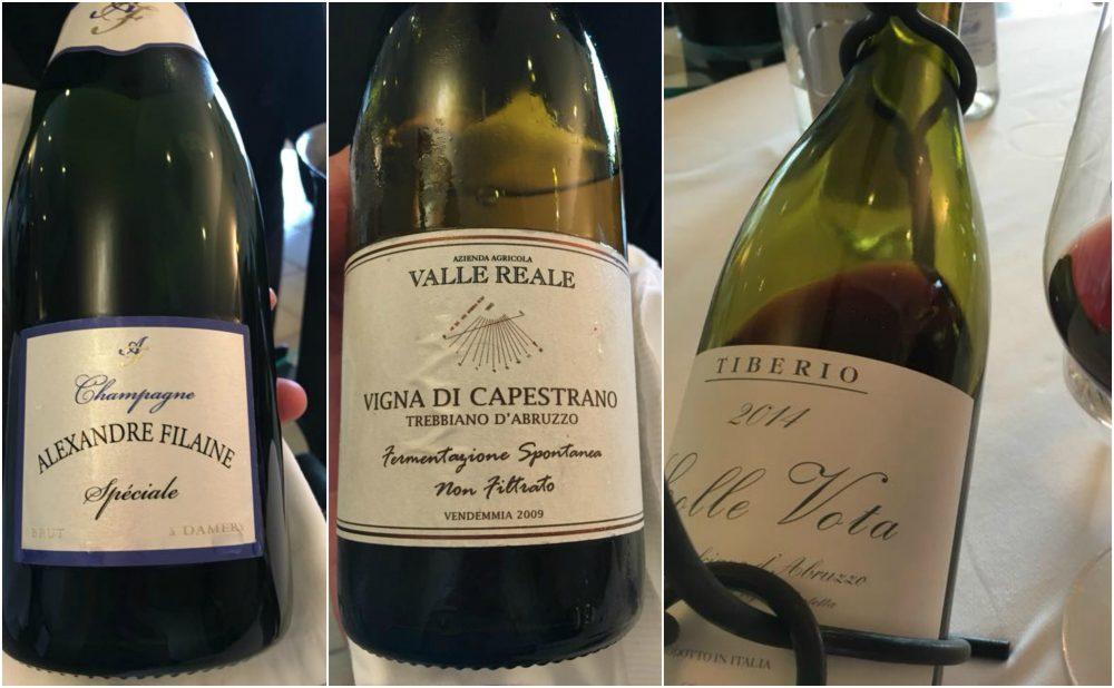 Villa Maiella a Guardiagrele, vini e champagne