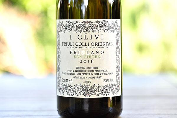 Friuli Colli Orientali Friulano San Pietro 2016 I Clivi