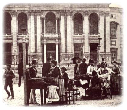 La vendita delle lumache davanti alla basilica di San Giovanni