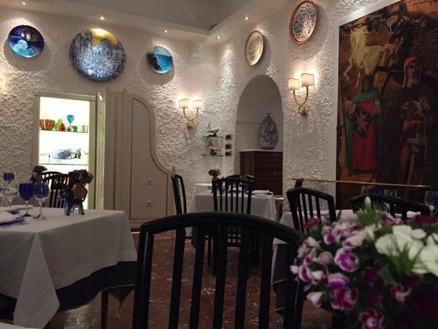 La Caravella di Amalfi, la sala