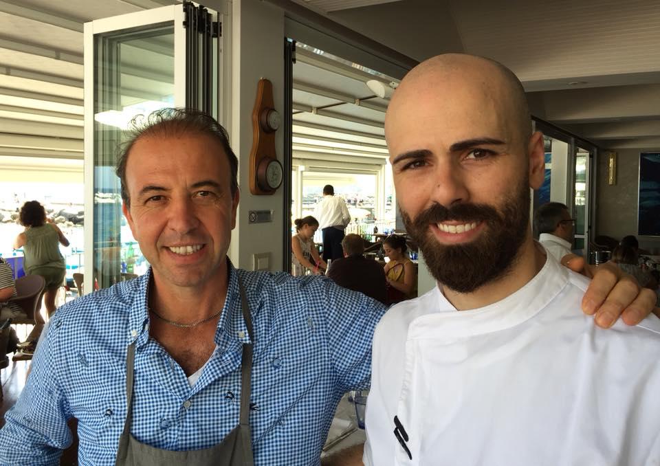 Marina Grande, Gianpaolo Esposito con lo chef Francesco Sardegna