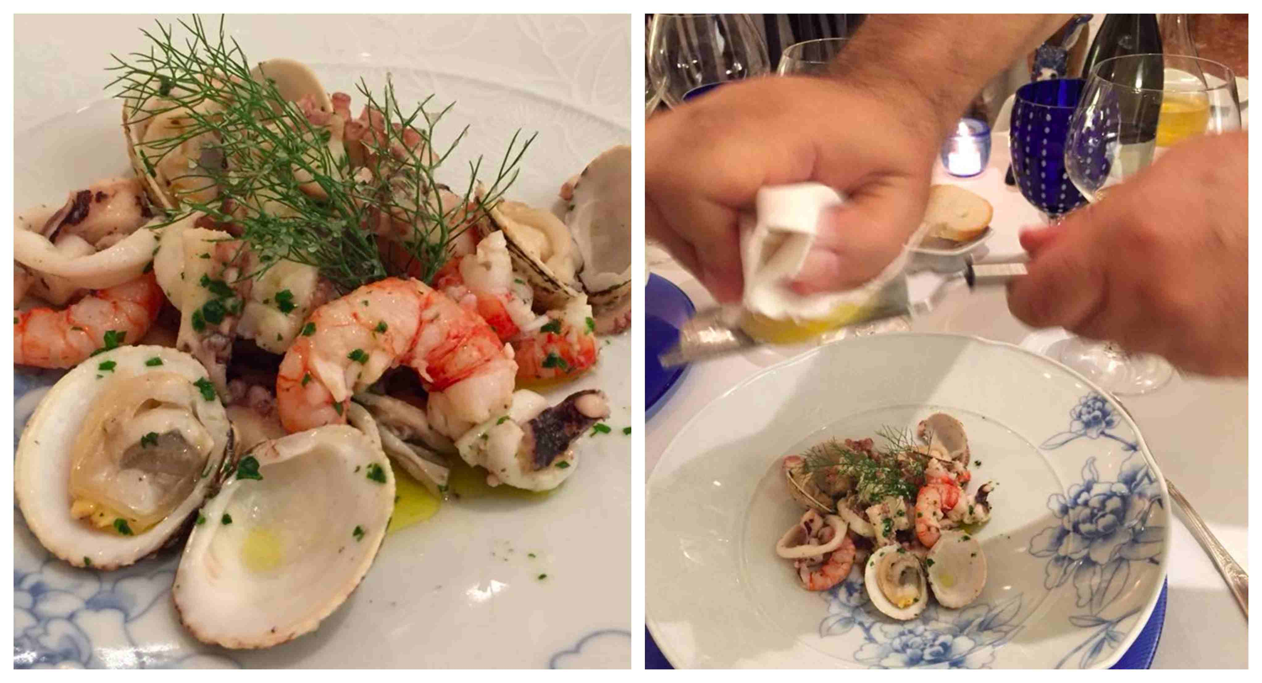 La Caravella, l'insalata di mare