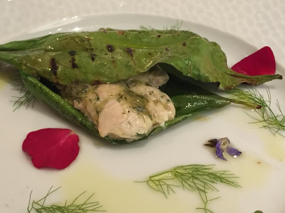 La Caravella, pesce spada in foglia di limone