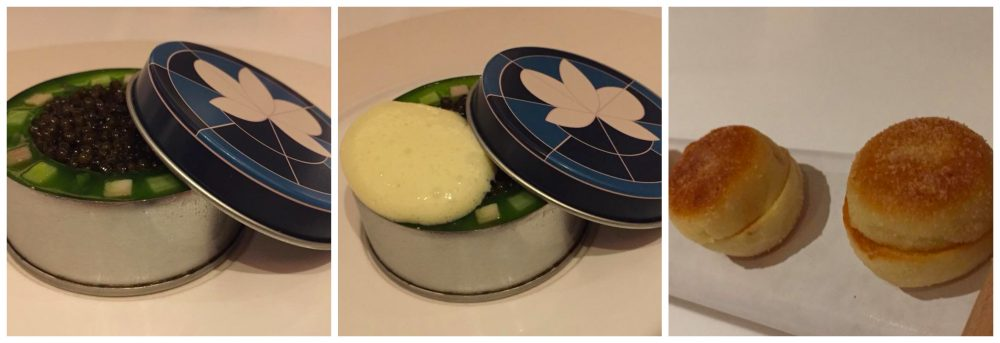 Eleven Madison Park, Eggs Benedict with sturgeon caviar, ham and asparagus