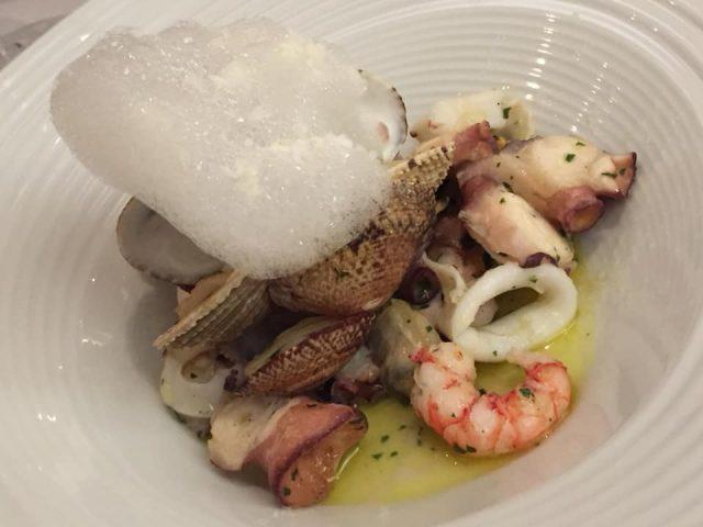La Caravella, il Menu dei 60 anni, l'insalata di mare