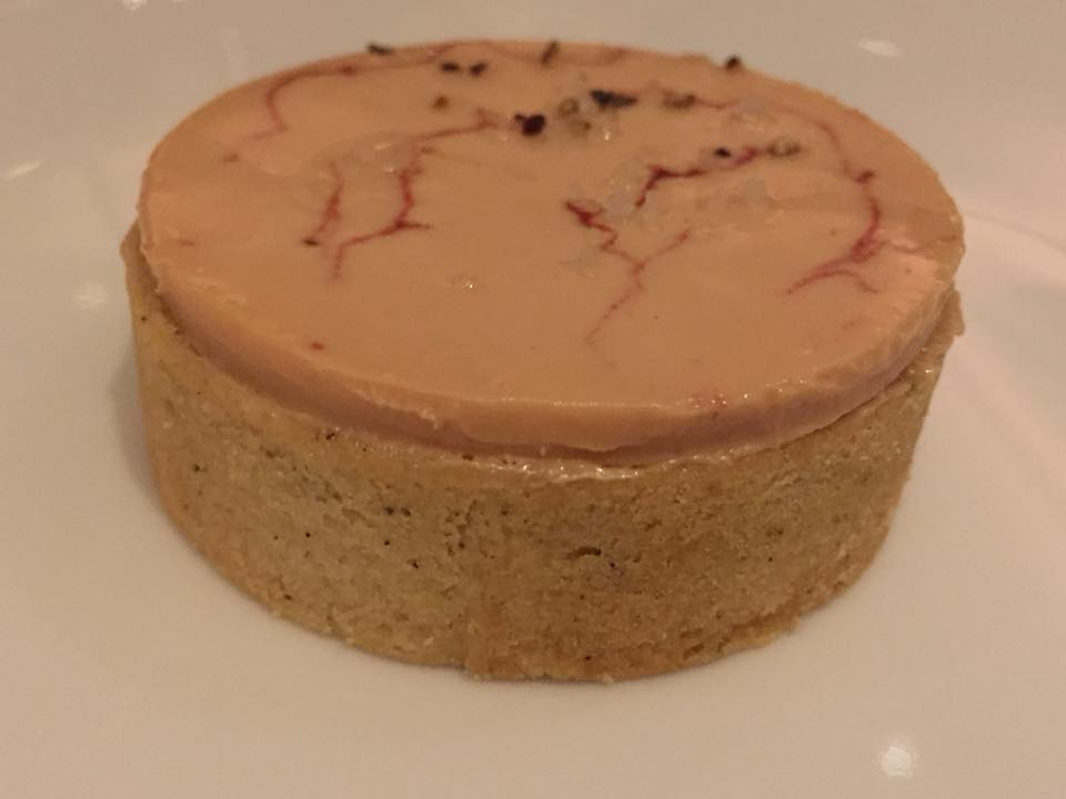 Eleven Madison Park, Foie Gras marbled Torchon with Strawberry and Black Pepper
