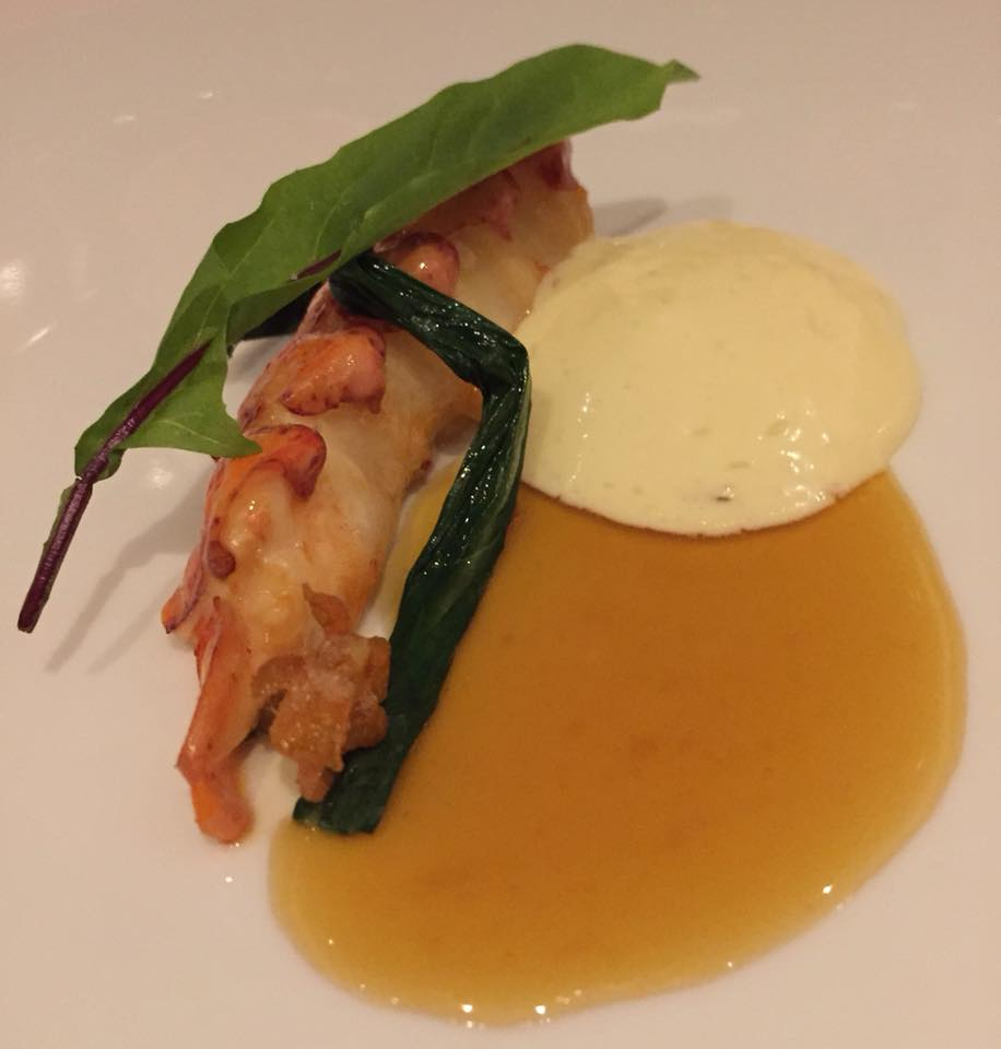Eleven Madison Park, Lobster butter posched with Dandelion Green and Ginger
