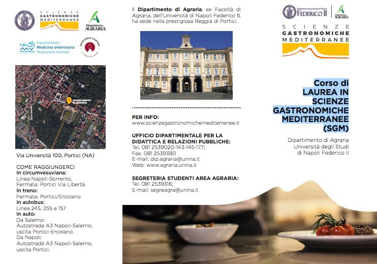 Corso di Laurea in Scienze Gastronomiche Mediterranee