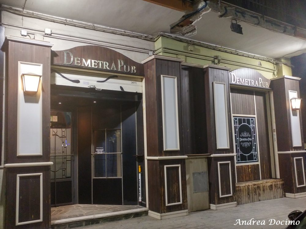 Demetra Pub Birreria a Pontecagnano Faiano. L'entrata