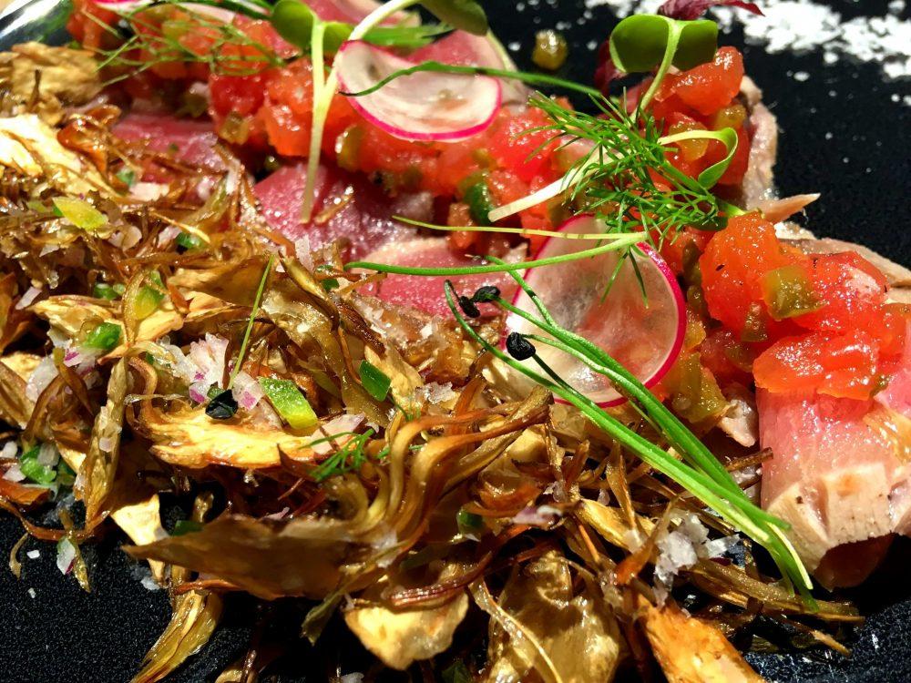 Otoro 81 - Tataki di Tonno, Carciofi e Salsa Tacos