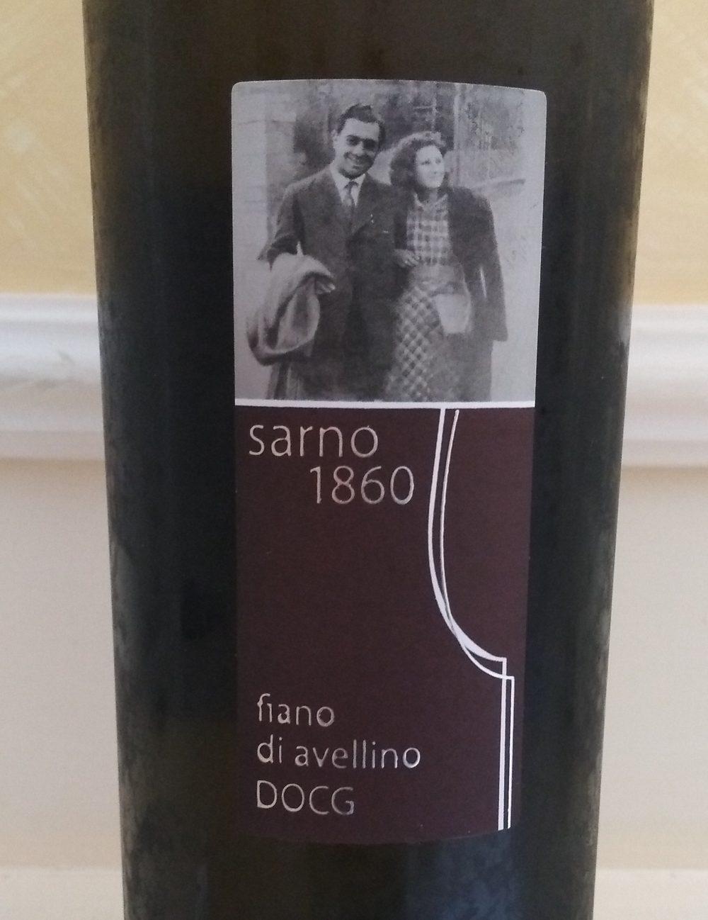 Fiano di Avellino Docg 2016 Tenuta Sarno 1860