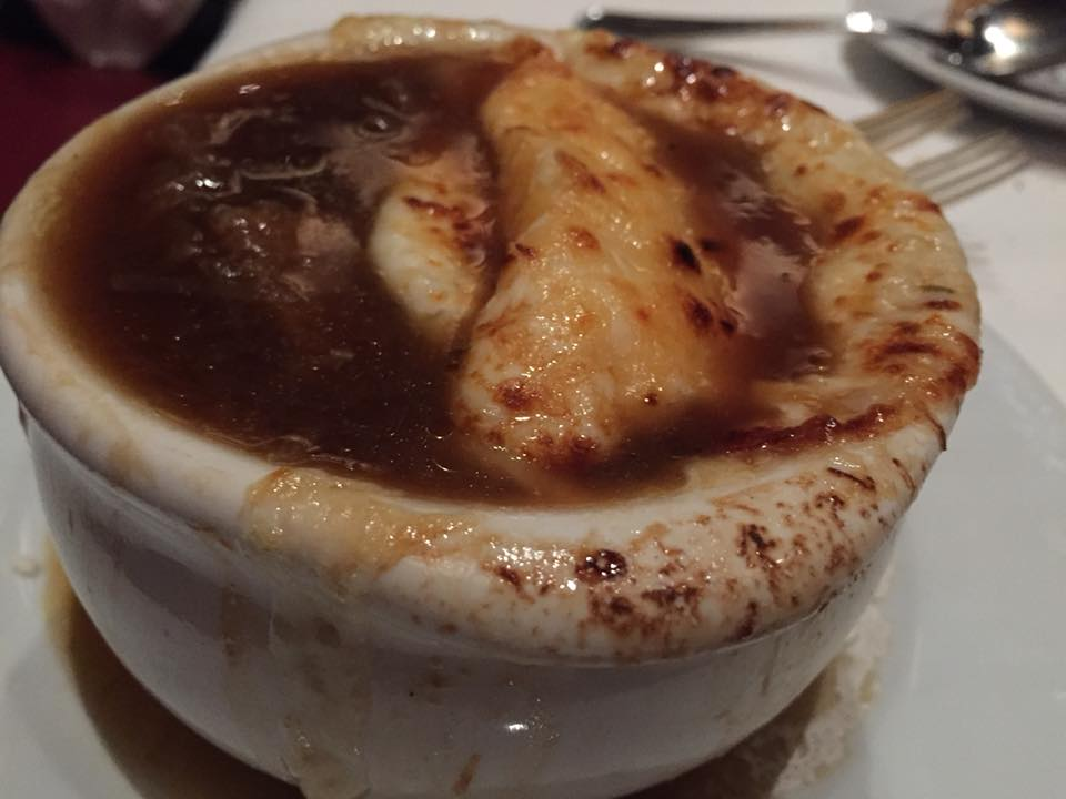 Gallaghers Steakhouse, zuppa di cipolle