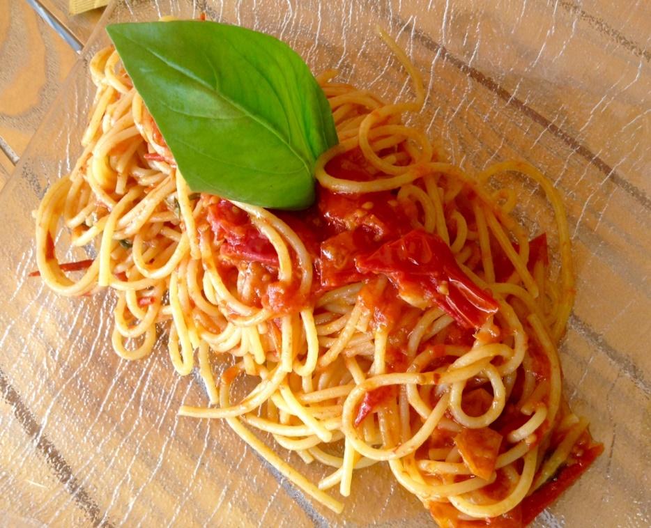 La Terrazza, spaghetti pomodoro e basilico