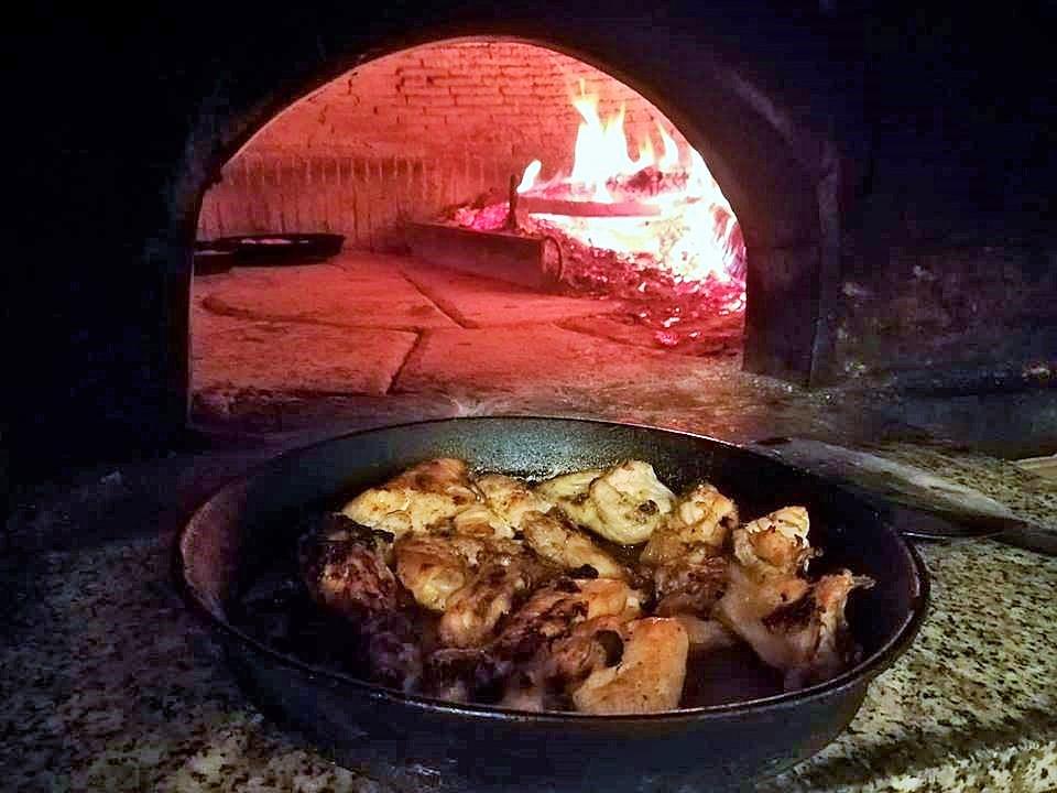 Pollo scucchiato - Il pollo all'uscita dal forno