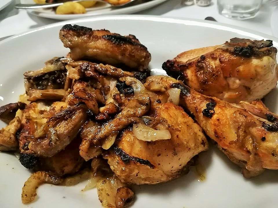 Pollo scucchiato - Il pollo con porcini