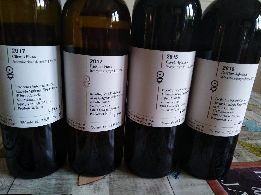 Retroetichette vini azienda Pippo Greco