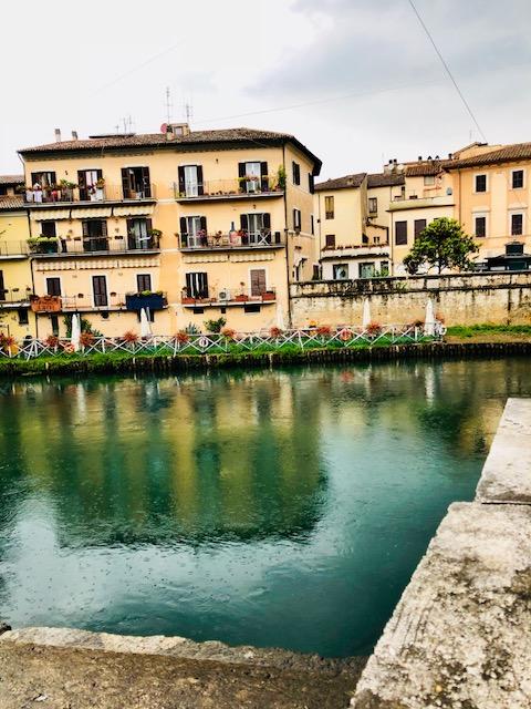 Rieti e il fiume Velino