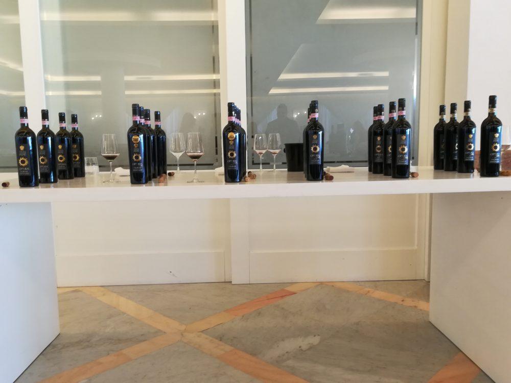 Tenuta Cavalier Pepe Bottiglie in degustazione del Taurasi Opera Mia