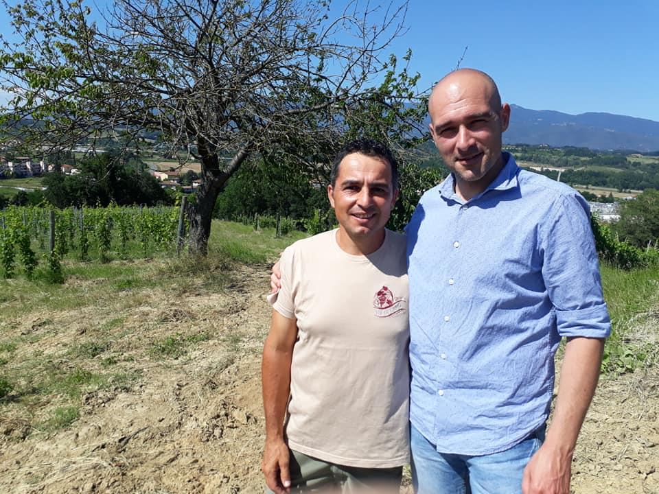 Val di Lago - Marco Mancini e l'enologo Filippo Mazzorana