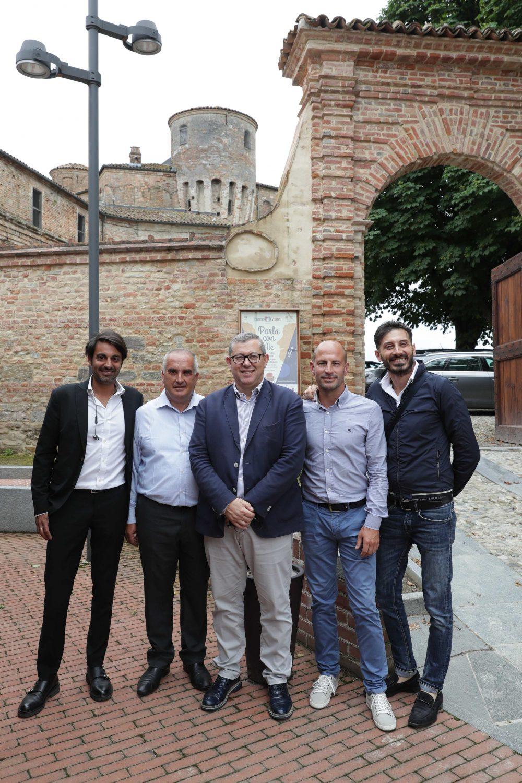 Delegazione di produttori pugliesi, da sin Angelo Turi, Antonio Venneri, Giuseppe Santoro, Antonio Calo' e Francesco Cito