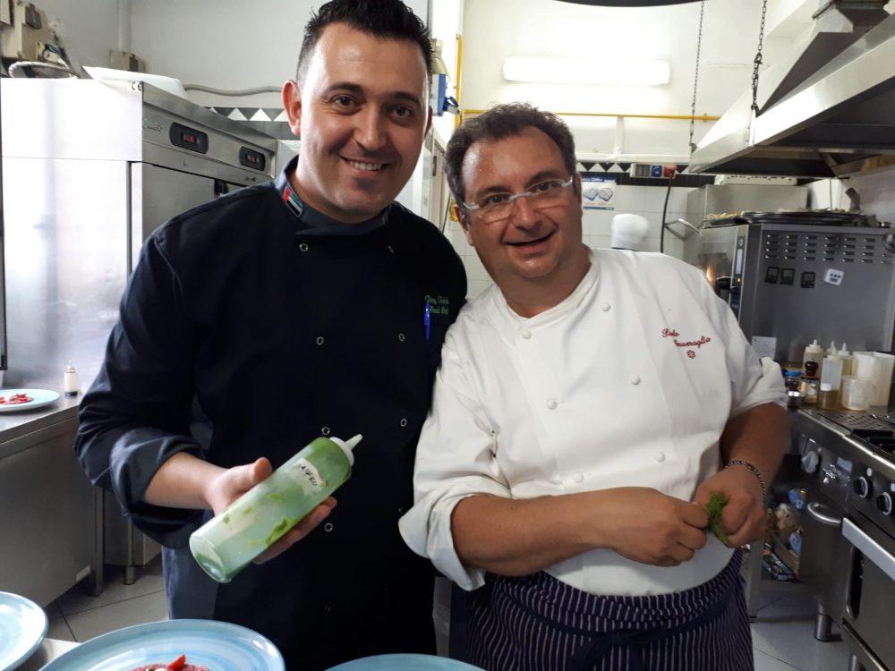 Paolo Gramaglia chef Emiro Abu Dhabi in cucina al President