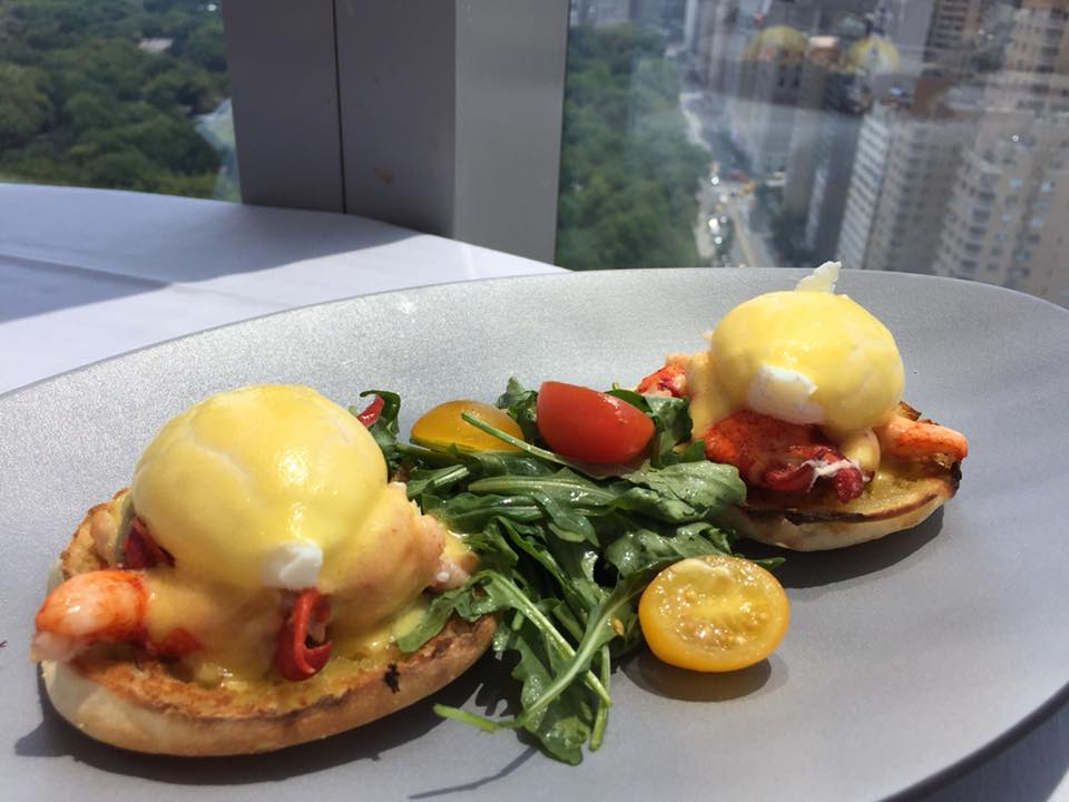 Asiate, lobster Benedict