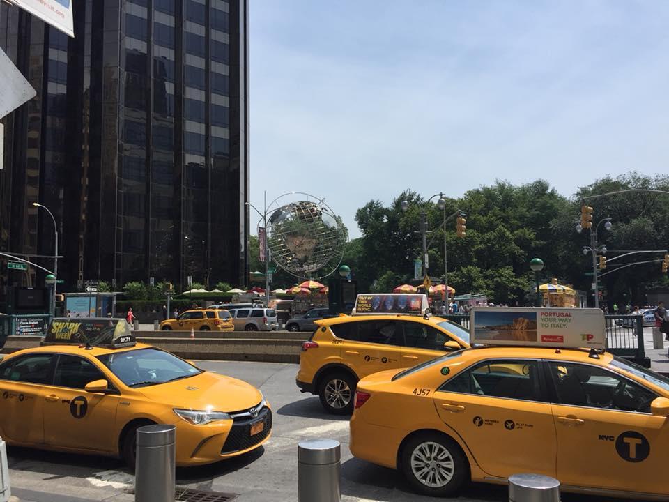 I taxi a Columbus Circle