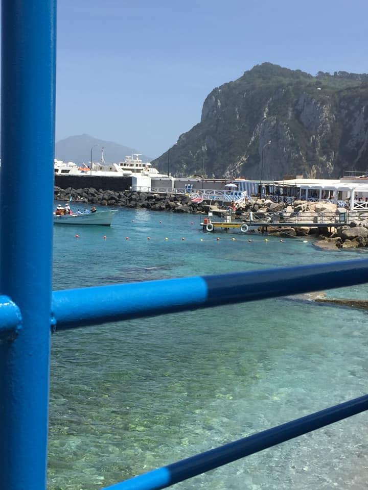 da Gemma a Capri, panorama dal tavolo