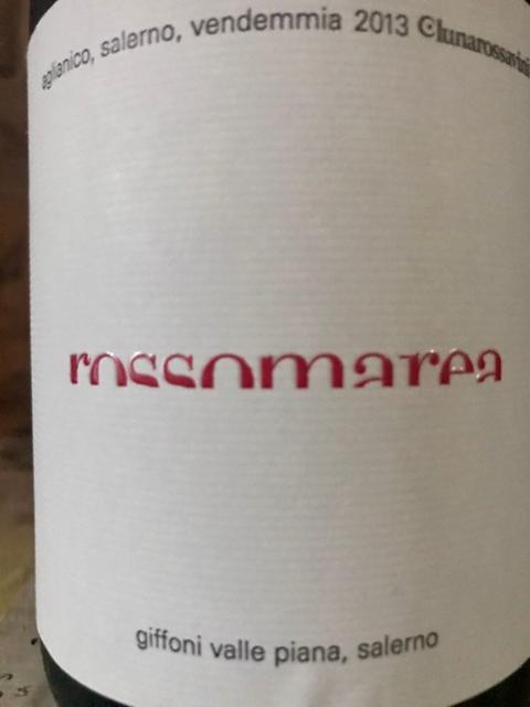 Rossomarea, uvaggio di Aglianico e Merlot annata 2013