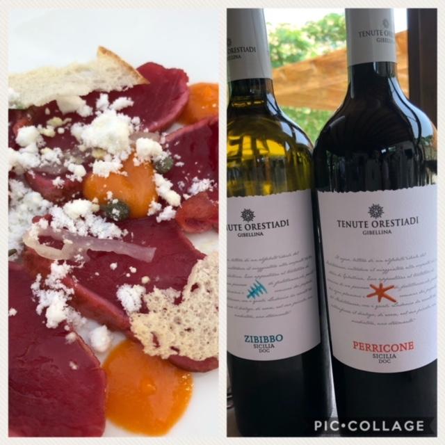 Falso tonno in cipollata - di Vincenzo Candiano due stelle Michelin con i vini di Tenute Orestiadi