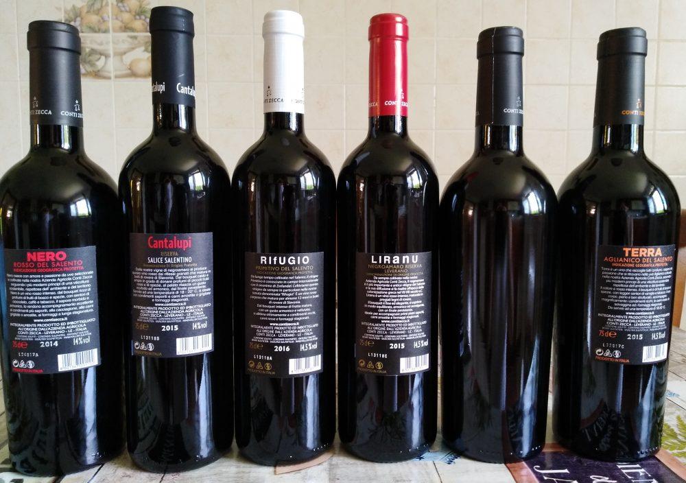Controetichette Vini Conti Zecca