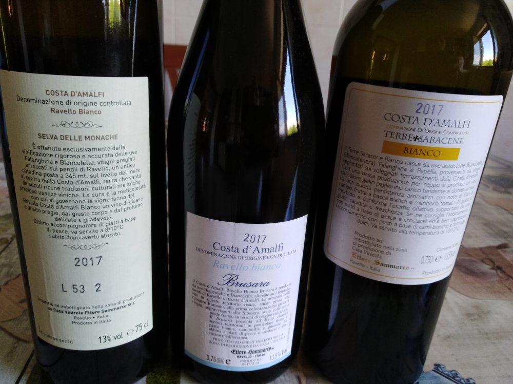 Controetichette vini azienda Ettore Sammarco