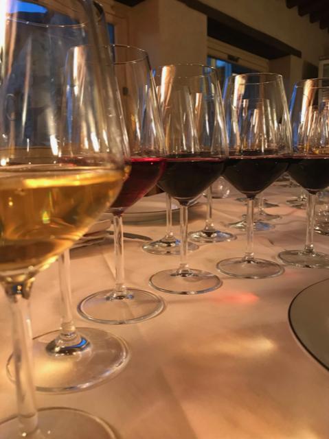 Degustazione con i vini dell'azienda Lunarossa