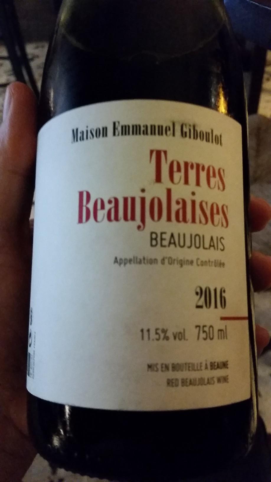 Emmanuel Giboulot - Terres Beaujolaises 2016