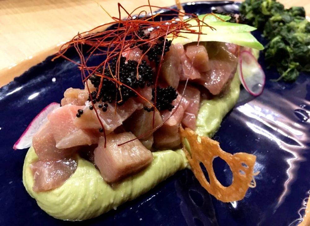 Tabi Restaurant - Otoro, Caviale & Hummus di Ceci & Avocado
