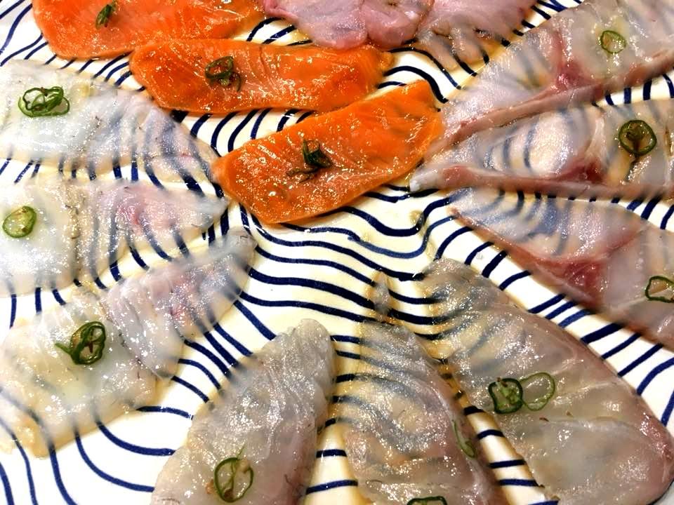 Tabi Restaurant - Tiradito di pesce bianco e Salmone con Jalapenos
