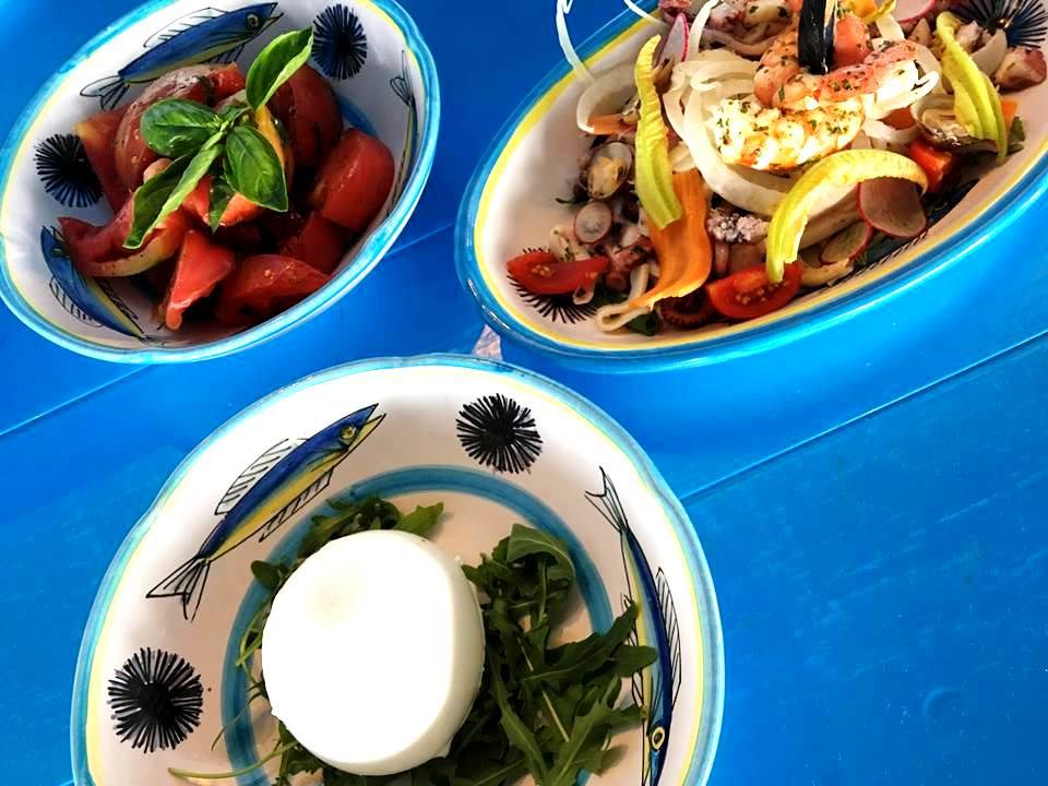 Il Riccio Restaurant- La Caprese & L'Insalata di Mare
