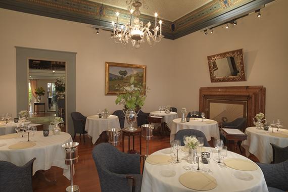 La sala dell'Enoteca Pinchiorri