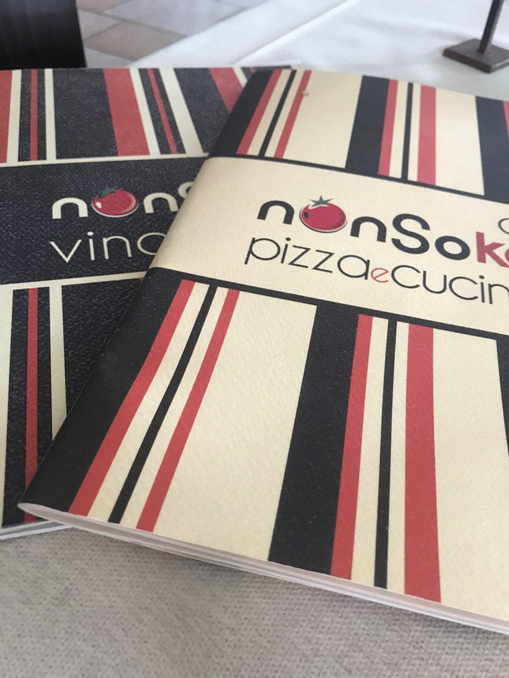 NonSoKe Pizza e Cucina - Menu'
