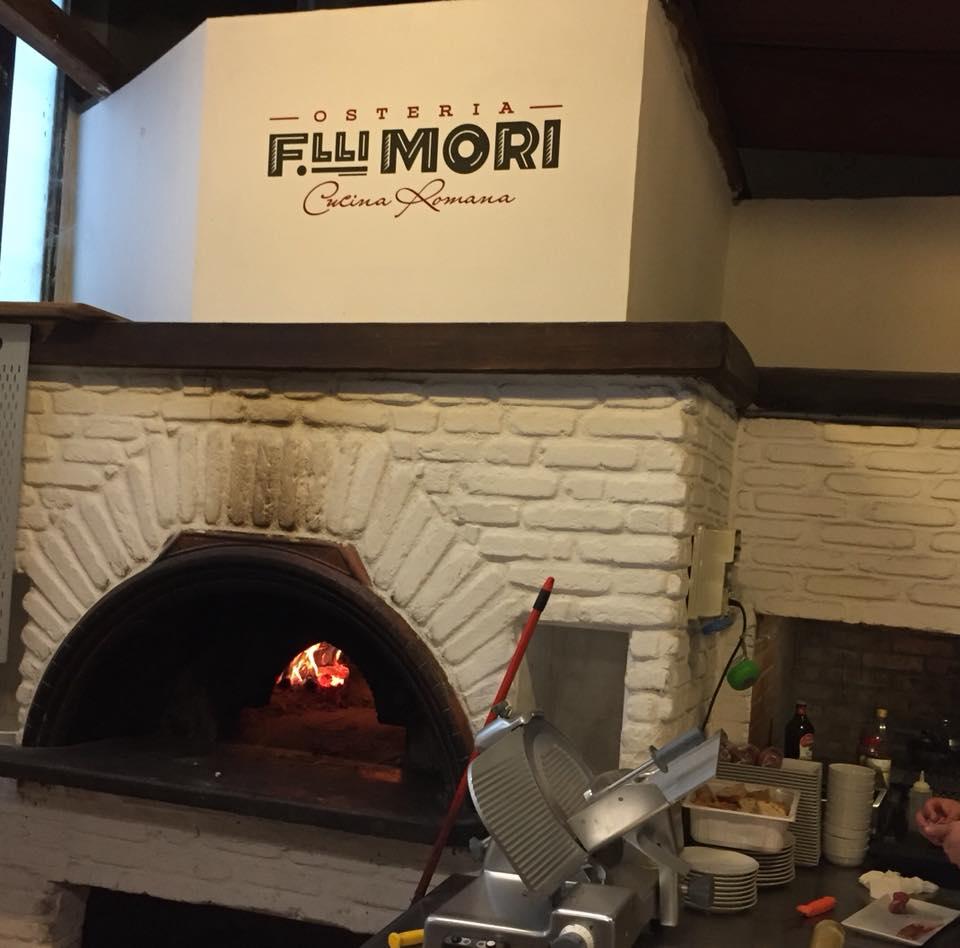 Osteria Fratelli Mori,il forno per le pizze
