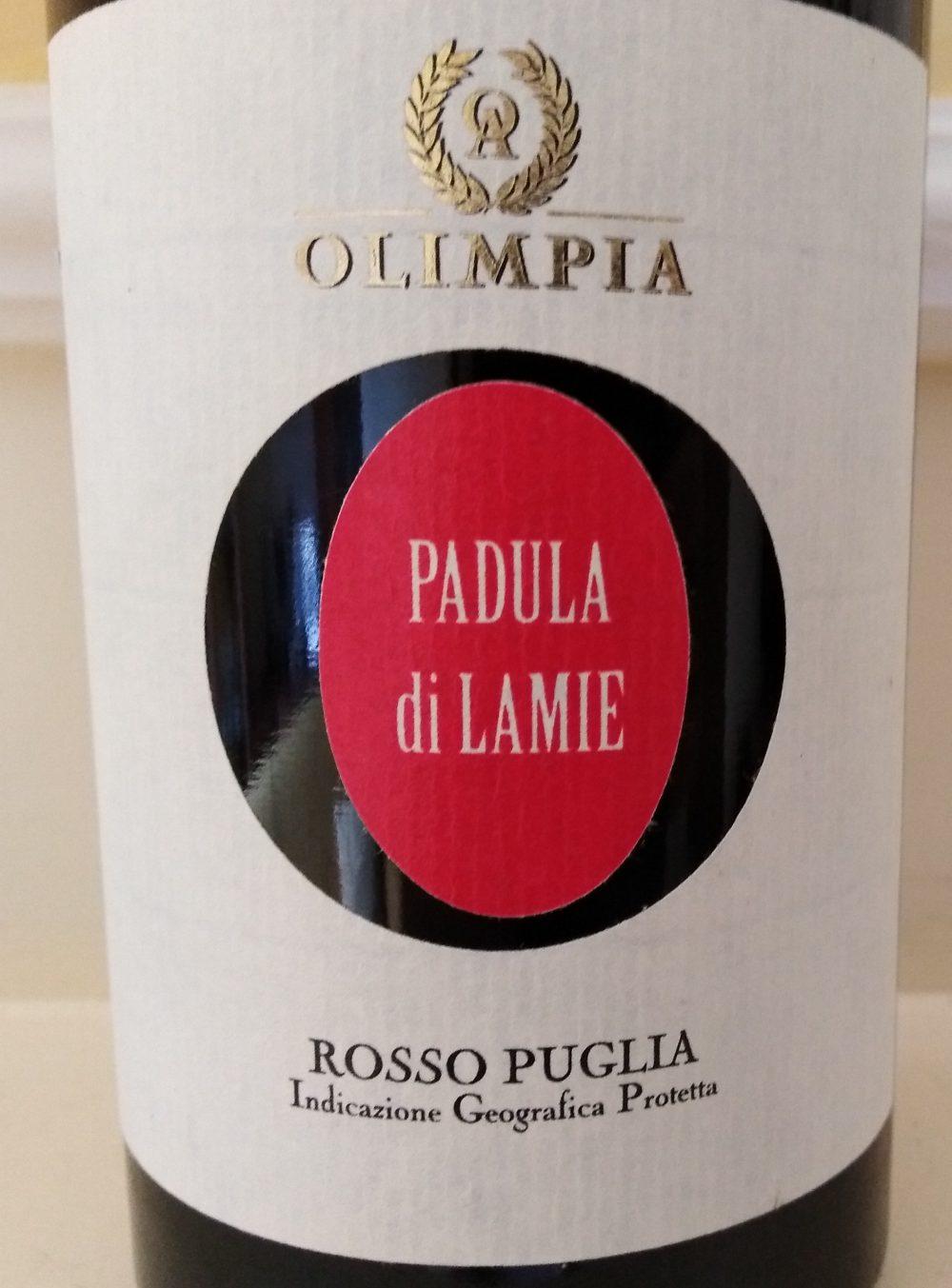 Padula di Lamie Puglia Rosso Igp 2014 Olimpia