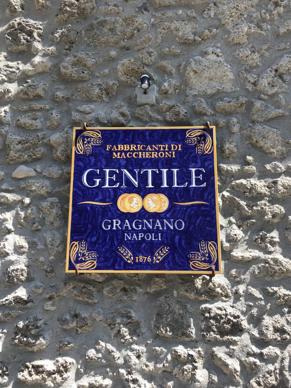 Pastificio Gentile - Targa