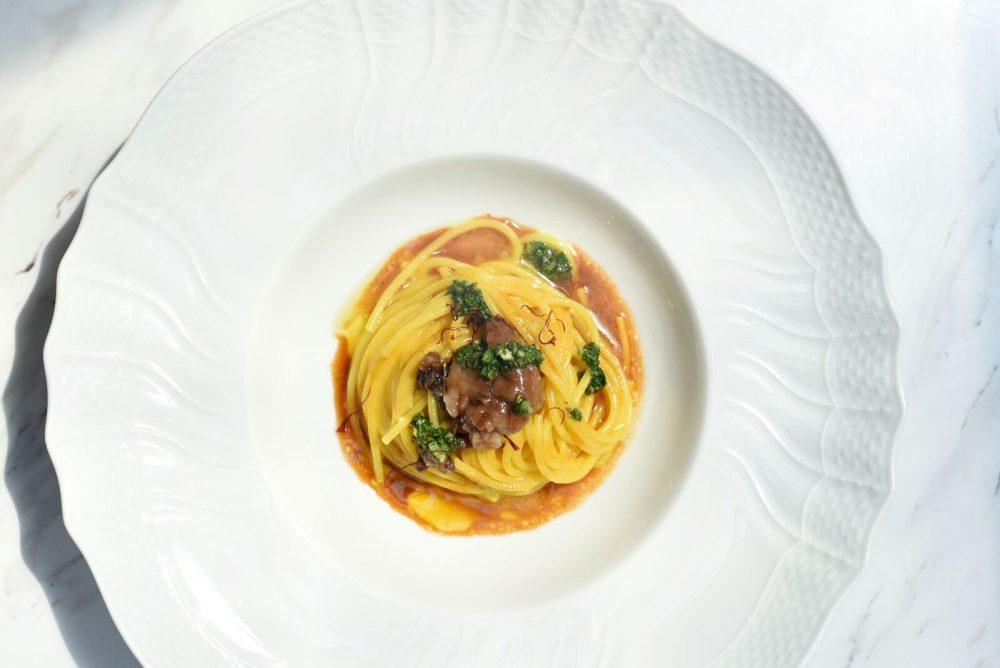 Primo di New York - Spaghetto Allo Zafferano di Navelli, Salsa di Midollo, Intingolo di Sicilia