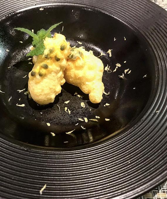Restaurant Taste - Entre' di Tempura di baccala' e frutto della passione