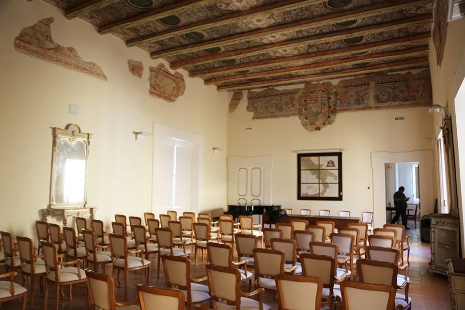 Terre dell'Aglianicone - la sala affrescata