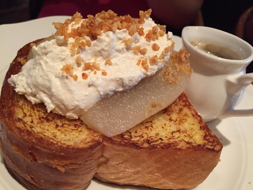 The Standard Hotel, French Toast con pere e mascarpone
