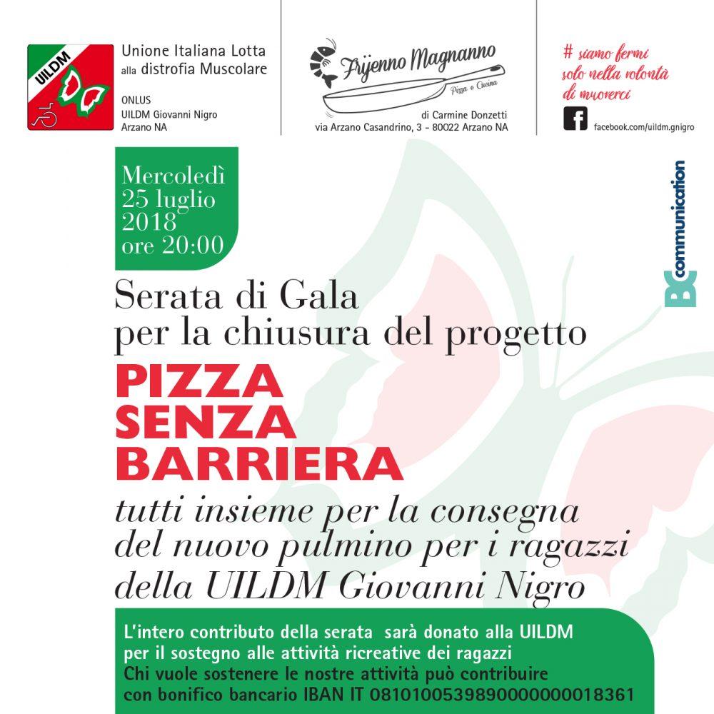 Pizza senza barriera